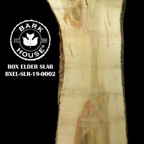 For Sale: Bark House live edge slabs and mantels. Box Elder-SLR-19-0002