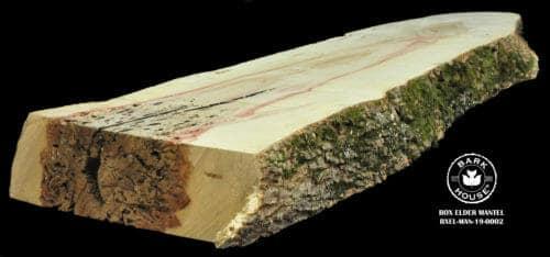 For Sale: Bark House live edge slabs and mantels. Box Elder-MAN-19-0002
