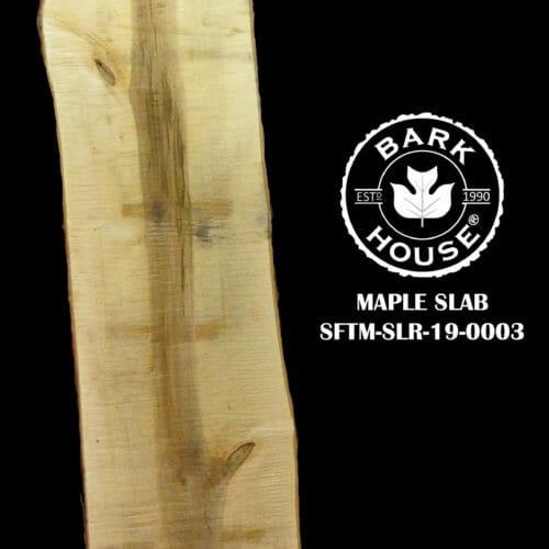 For Sale: Bark House live edge slabs and mantels. Maple SLR-19-0003