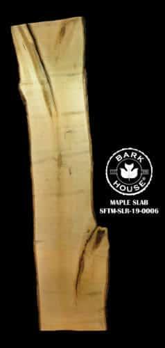 For Sale: Bark House live edge slabs and mantels. Maple SLR-19-0006