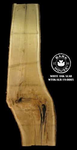For Sale: Bark House live edge slabs and mantels. White Oak SLR-19-0005