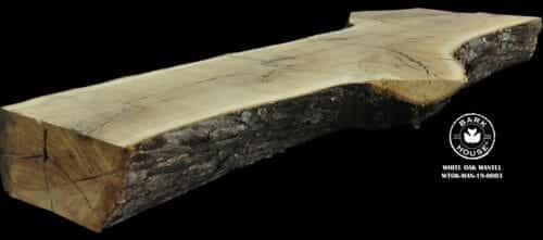 For Sale: Bark House live edge slabs and mantels. White Oak Man-19-0003