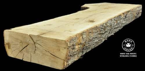 For Sale: Bark House live edge slabs and mantels. White Oak Man-19-0004
