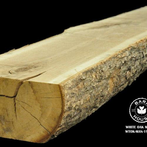 For Sale: Bark House live edge slabs and mantels. White Oak Man-19-0010