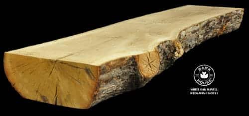 For Sale: Bark House live edge slabs and mantels. White Oak Man-19-0011