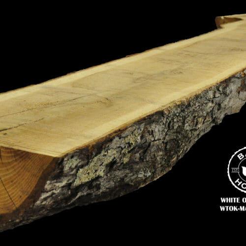 For Sale: Bark House live edge slabs and mantels. White Oak Man-19-0012