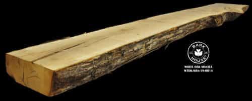 For Sale: Bark House live edge slabs and mantels. White Oak Man-19-0014