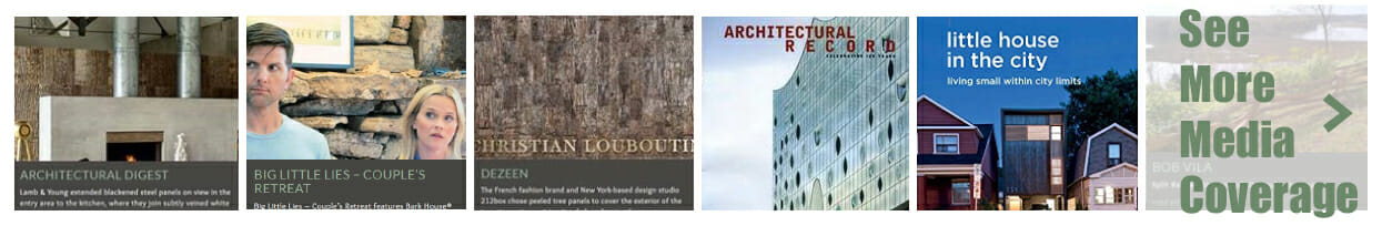Bark House has been featured in over 250 media outlets including Architectural Record and Our State Magazine