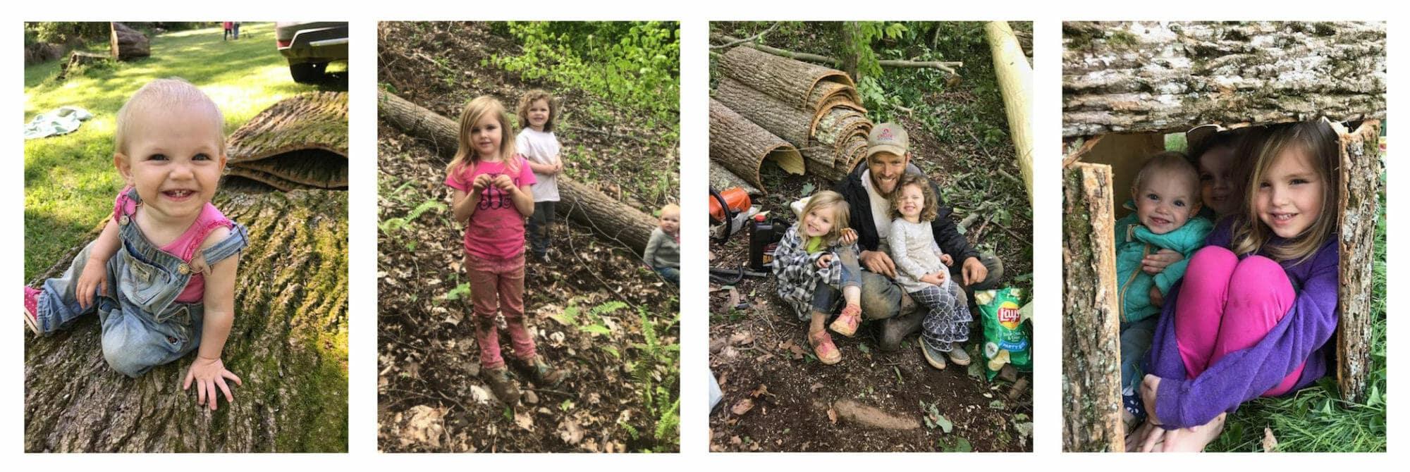 Little Girl Loggers: Bark House Poplar Bark Shingles Siding