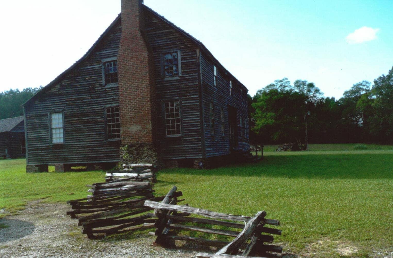 Historic Bonham House with Black Locust Split Rail